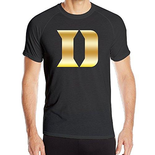 Duke Blue Devils Gold Style Logo Black Men's Athletic T-shirt (Duke Blue Devils Dry Fit Shirt compare prices)