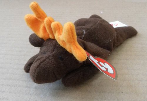 TY Teenie Beanie Babies Chocolate the Moose Stuffed Animal Plush Toy - 5 inches long