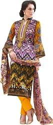 Sinina Cotton Embroidered Salwar Kameez Suit UnStitched Dress Material