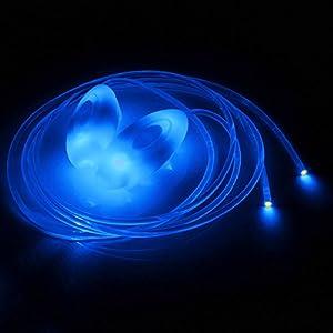 CAMTOA Lacets lumineux LED claire petit fête disco dance étanches bleu