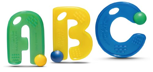 Mayapple Baby® - ABC Teething Letters™ - 3 Silicone Teethers - Kiwi Set