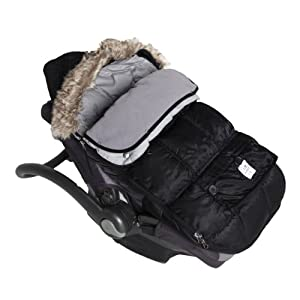 "7A.M. ENFANT ""Le Sac Igloo"" Footmuff, Converts into a Single Panel Stroller and Car Seat Cover - Black, Large"