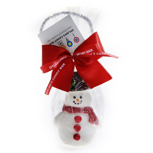 Handmade Chocolate Snowman with Candy