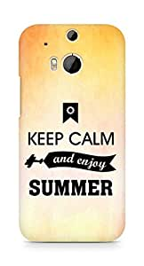 Amez Keey Calm and Enjoy Summer Back Cover For HTC One M8