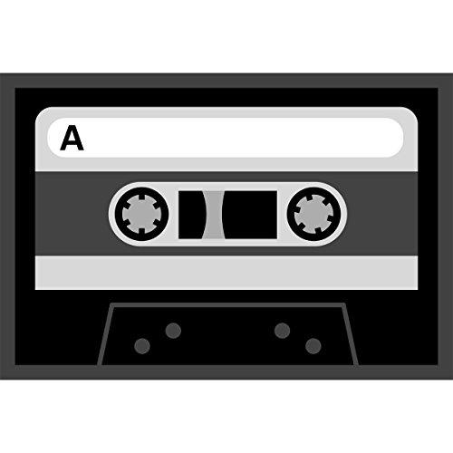 Fussmatte-Retro-Tape-Kassette-Trabstreifer-Trmatte-Fuabstreifer-Schmutzfangmatte