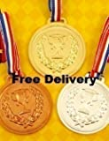 Henbrandt 20 Packs Of Prize School Award Sports Day Olympics Gold Silver Bronze Winner Plastic Medals