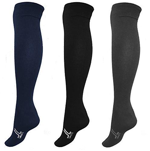 6 paia calzini lunghi uomo caldo cotone LANCETTI art.LAN120L 2blu 2nero 2grigio taglia unica