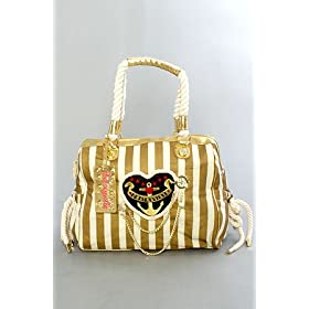 Betsey Johnson The Satchel in Gold Sailor Girl,Bags (Handbags/Totes) for Women
