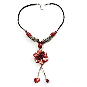 Amazon.com: Coral Red Shell Composite Floral Tassel