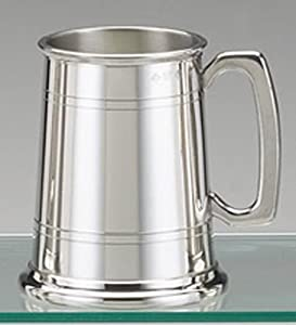 Traditional Pewter beer tankard - 1 pint