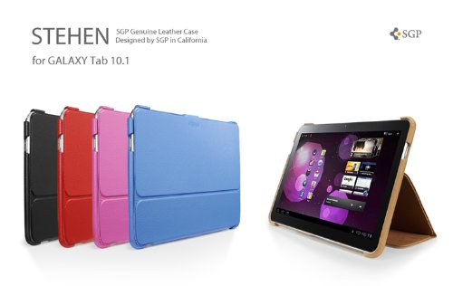 SGP Wi-Fi Only Samsung Galaxy Tab 10.1 Leather Case Stehen Series [Sherbet Pink]