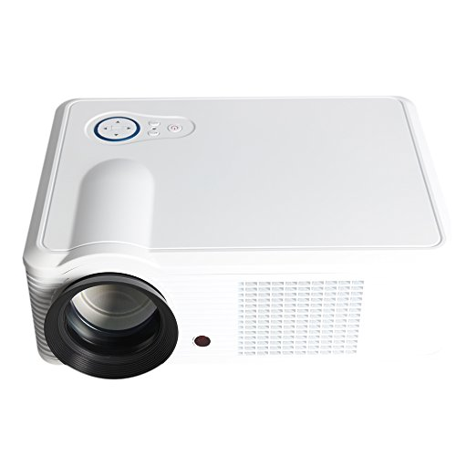 Hamswan Led-33 Video Projector 2000 Lumens 854*540 1000:1 Component Video(Ypbpr) Vga Hdmi Usb For Entertainment,Business Conference And Teaching (White)