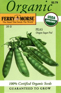 Ferry-Morse 3181 Organic Pea Seeds, Oregon Sugar Pod (35 Gram Packet)