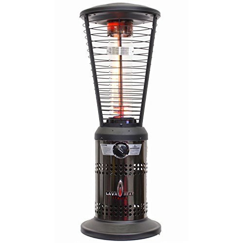 Lava Heat MINI 10,000 BTU Propane Outdoor Patio TABLETOP Heater with Exclusive Spiral Flame, Brushed Gun Metal Finish (Mini Propane Wall Heater compare prices)