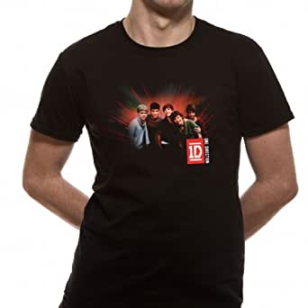 Loud Distribution One Direction - Group Phot Ray Men's T-Shirt Black Small