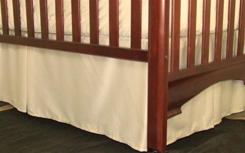 Tailored, Pleated Crib Bed Skirt Cotton 14