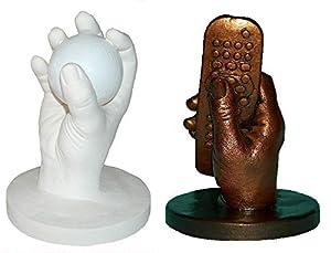 Luna Bean LARGE KEEPSAKE HANDS CASTING KIT | DIY Plaster Statue