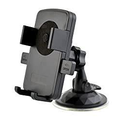 ChiTronic Universal Car Windshield Mount Holder for iPhone 5 5S 6 Samsung Sony 50-77mm Mobile Phone MP3 MP4