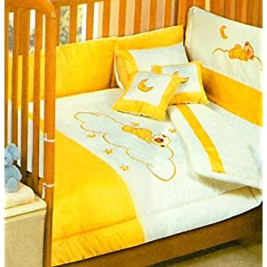 Sleepy Bears 100 Cotton Animal Comforter Set With Bumpers Toddler Crib Size