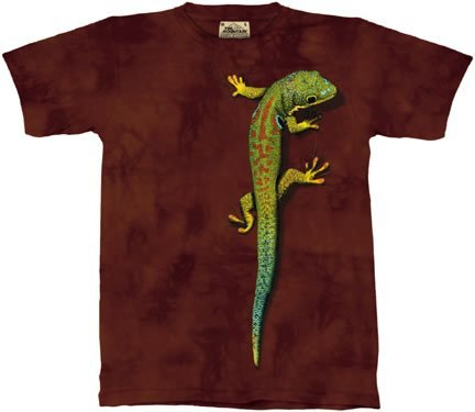 The Mountain Bright Eyes Lizard Gecko Tee T-Shirt Adult X-Large front-191984