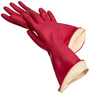 Casabella Waterstop Premium Rubber Gloves, Large
