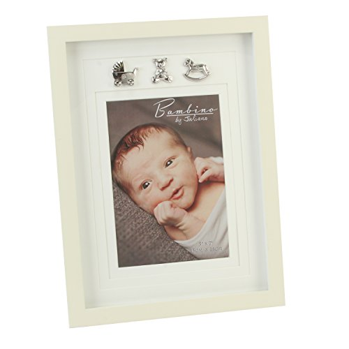 "Bambino CG334 Baby Photo Frame, Silver Charms, 5"" x 7"" - 1"