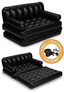 Flocked Inflatable Sofa Bed Kitchen Dining