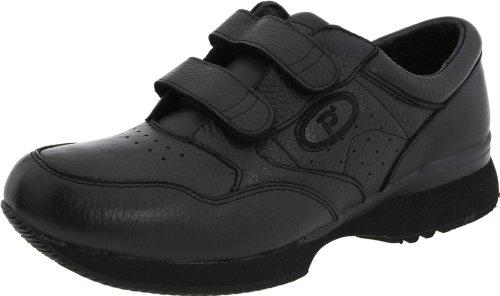 Propet Men's M3715 Leisure Walker Strap Sneaker,Black,7 X (US Men's 7 EEE)