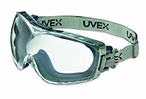 Uvex S3970DF Stealth OTG Safety Goggles, Navy Body, Clear Dura-streme Hardcoat/Anti-Fog Lens, Fabric Headband