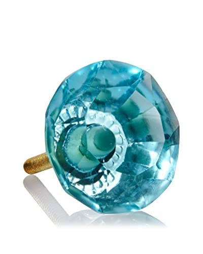 A. Sanoma Inc. Large Glass Knob, Turquoise