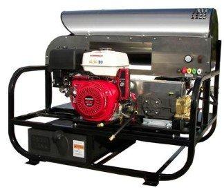 4012Pro-10G Professional 3000 Psi (Gas-Hot Water) Super Skid Belt-Drive Pressure Washer