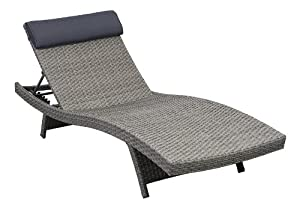 Atlantic 2-Piece Tahiti Deluxe Lounger Wicker Lounger Set, Grey from International Home Miami Corp