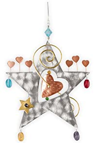 Pilgrim Imports Rising Up Star Metal Fair Trade Ornament