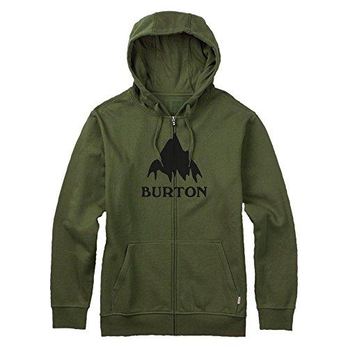 Burton - Felpa da uomo con zip intera, Classic Mountain, Uomo, Hoodie CLASSIC MOUNTAIN FULL-ZIP, Olive Branch, L