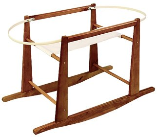 Jolly Jumper Rocking Moses Basket Stand, Expresso - 1