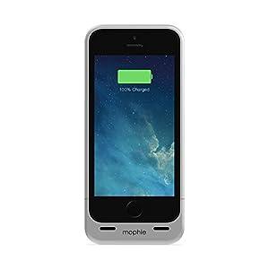 Mophie Juice Pack Helium schmale Hartschale für Apple iPhone 5/5S mit integrierten 1,500mAh Akku silber
