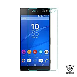 MoArmouz Go - Sony Xperia C5 Ultra [Tempered Glass] by MoArmouz, Premium, Ultra Clear Tempered Glass Screen Protectors for Sony Xperia C5 Ultra 9H Hardness, Shatterproof, High Definition Clear Tempered Glass, Oleophobic Coating HD Clear Tempered Glass Screen Protector