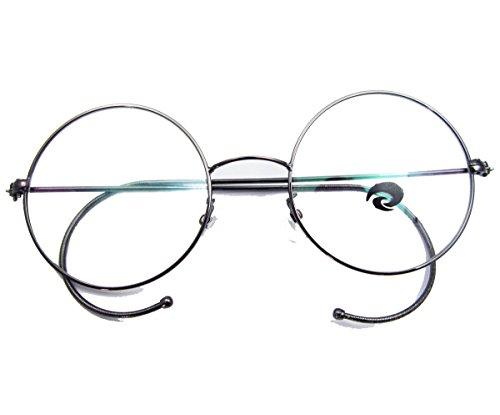 Agstum Retro Round Optical Rare Wire Rim Eyeglass Frame 48mm (Gunmetal)