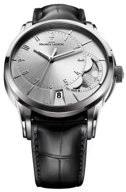 Maurice Lacroix Men's PT6318-SS001130 Pontos Silver Moon Phase Dial Watch