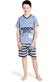Pure Cotton Manchester City Football Club Short Pyjamas