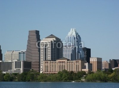"Wallmonkeys Peel and Stick Wall Decals - Austin, Texas : Downtown - 24""W x 18""H Removable Graphic"
