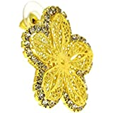 Traditional And Ethnic Golden Color Jewellery,Indian Fashion Earrings Floral,Gifts For Mom