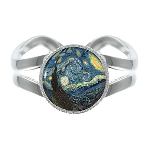 starry-night-design-silver-plated-adjustable-ring