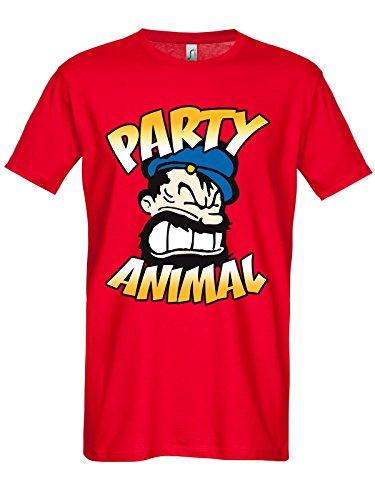 Popeye -  T-shirt - Uomo rosso X-Large