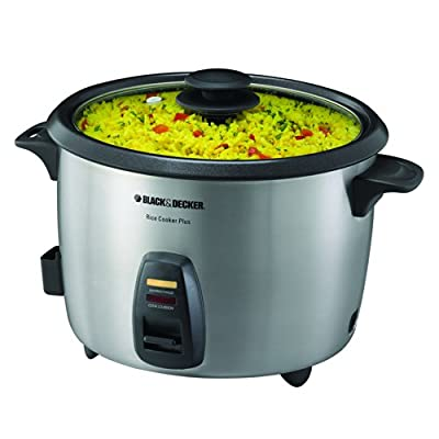 Black & Decker RC866C 20-Cup Rice Cooker, Black/Silver from Applica Incorporated/DBA Black and Decker