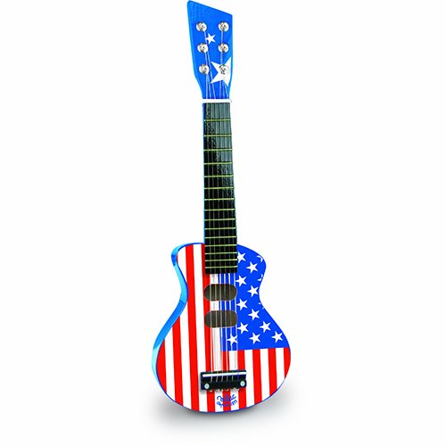 Vilac Rock N' Roll Guitar Baby Musical Toy, American Flag