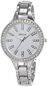 Breda Women's 8172-silver Veronica Round Dial Super Slim Bracelet Watch