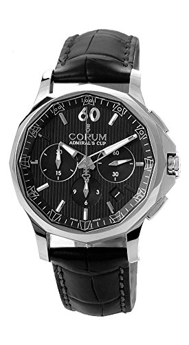 Corum Admiral's Cup Legend 42 Automatic Chronograph Steel Mens Watch Calendar 984.101.20/0F01 AN10