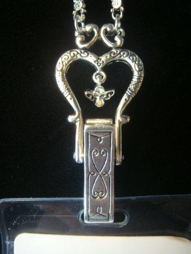 Identification badges supplies silver designer brighton for Brighton badge holder jewelry