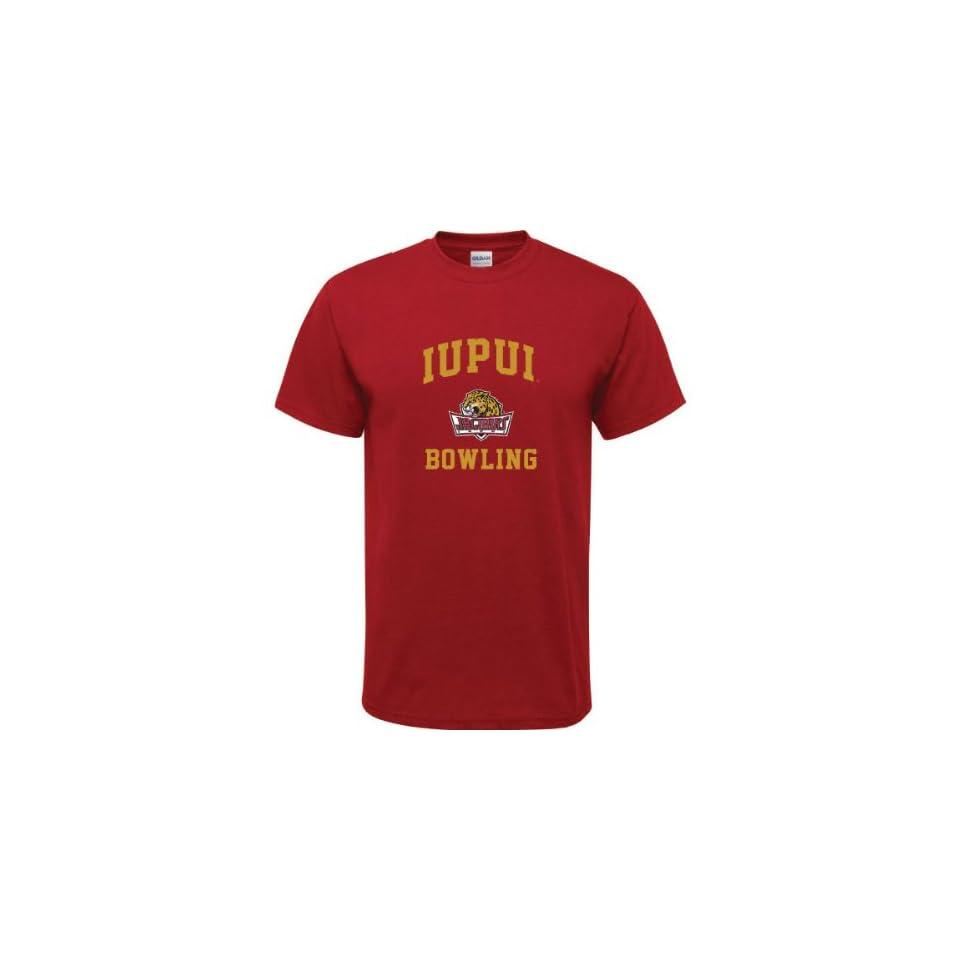 IUPUI Jaguars Cardinal Red Youth Bowling Arch T Shirt